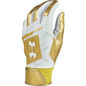 アンダーアーマー UNDER ARMOUR 野球 アンディナイアブル バッティンググローブ 両手用 Undeniable Batting Glove ゴールド 1331519 700