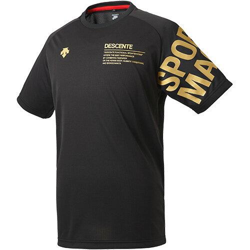 デサント DESCENTE 半袖プラクティスシャツ ブラック×Cゴールド DVULJA56 BGD メンズ
