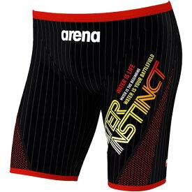 アリーナ arena メンズ 競泳水着 ハーフスパッツ ブラック FSA-9629 BKRD