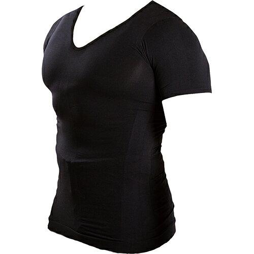 マッスルプロジェクト 加圧インナーシャツ Vネック ブラック MP-MSBKV メンズ