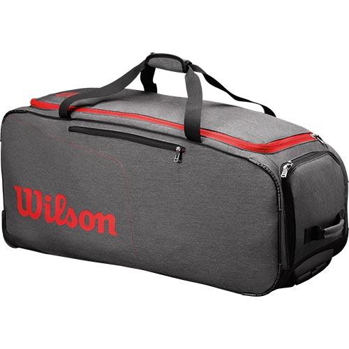 ウイルソン Wilson テニスバッグ TRAVELER WHEELED COACH DUFFEL GYRD グレー/レッド WRZ847894