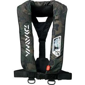 ダイワ DAIWA ウォッシャブルライフジャケット 肩掛けタイプ手動・自動膨脹式 フリー グリーンカモ DF-2007