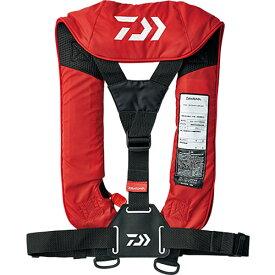 ダイワ DAIWA ウォッシャブルライフジャケット 肩掛けタイプ手動・自動膨脹式 フリー レッド DF-2007