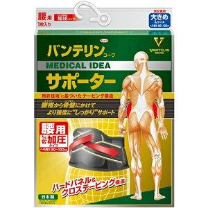 バンテリンコーワ VANTELIN KOWA バンテリン サポーター 腰用しっかり加圧タイプ 大きめサイズ ブラック-2-