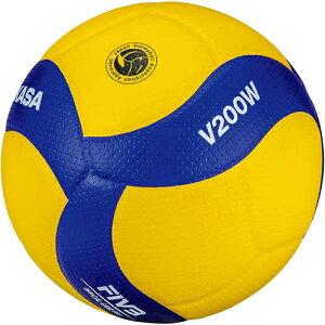ミカサ MIKASA バレーボール 5号 国際公認球 黄/青 V200W
