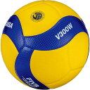 ミカサ MIKASA バレーボール 5号 国際公認球 高校試合球 黄/青 V300W