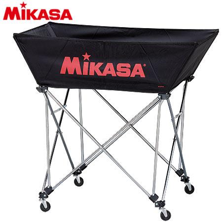20日10:00-23日9:59迄エントリーでポイント+4倍 MIKASA ミカサ ボールカゴ 皿型 Mサイズ フレーム・幕体・キャリーケース3点セット BC-SP-WM BK