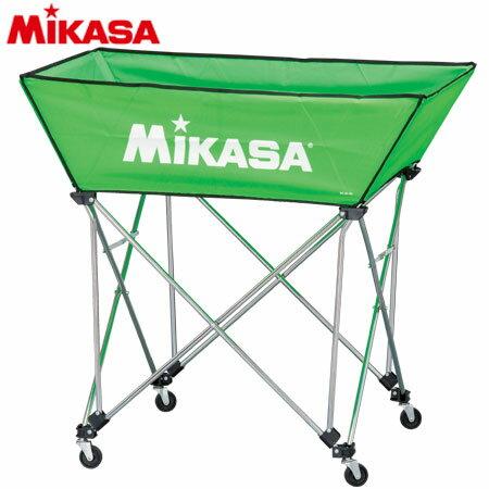 【送料無料】MIKASA(ミカサ) ボールカゴ 皿型 Mサイズ フレーム・幕体・キャリーケース3点セット BC-SP-WM LG 【ボールカゴ ボールケース】
