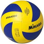 ミカサMIKASAバレーボール4号練習球FIVB公認球レプリカモデル黄/青MVA4000