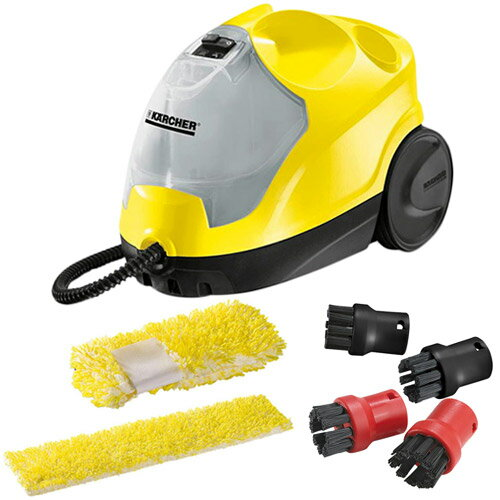 ケルヒャー KARCHER SC4 スチームクリーナー 洗浄器+マイクロファーバークロスセット+スチームクリーナー用ブラシ KAR-0032