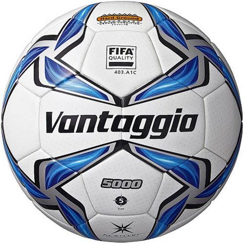 モルテン molten ヴァンタッジオ5000土用 サッカーボール 国際公認球 スノーホワイト×ブルー F5V5001 5号球