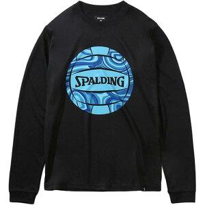 スポルディング SPALDING メンズ レディース バレーボール ロングスリーブTシャツ ネオンマーブルボール ブラック SMT201890 1000