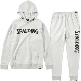 スポルディング SPALDING メンズ レディース バスケットボール スウェットフーディー & スウェットパンツ グレー SMJ201470 1200/SMP201480 1200