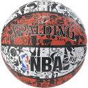 スポルディング SPALDING バスケットボール グラフィティ 83ー574Z レッド