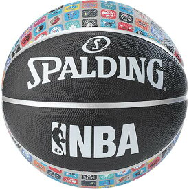 スポルディング SPALDING ジュニア バスケットボール NBAアイコンボール ブラック 5 83-772J