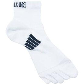 スポルディング SPALDING バスケ 靴下 コンプレッション 5本指 ショートソックス SAS140360 ホワイト