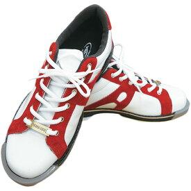 アメリカン ボウリング サービス ABS ボウリングシューズ NV-KID A-LINE 左右兼用 ホワイト/レッド 329262 メンズ レディース