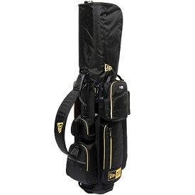 ■最大1000円OFFクーポン配布中■ニューエラ NEW ERA ゴルフ キャディーバッグ ベーシックポーチ付き CADDIE BAG ブラック/ゴールド 11404388