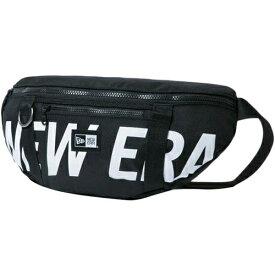 ニューエラ NEWERA ウェストバッグ プリントロゴ WAIST BAG ブラック×ホワイト 11901462