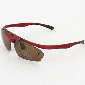 ダンロップ DUNLOP 無料 度付きレンズ付き インナーフレーム サングラス 交換 レンズ 計5枚付 DU-010 フレームカラー:M.RED/Col.3