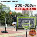 リーディングエッジ バスケットボール ゴール&molten 6号球セット ST LE-BS305ST/BGR6MY