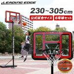 リーディングエッジバスケットボールゴールクリア6号球セット高さ調整可LE-BS305R-06set