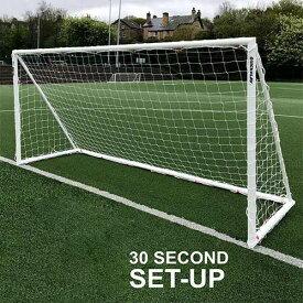 クイックプレイ QUICKPLAY Q-FOLD 折り畳み式 サッカーゴール 5.0m×2.0m UPVC製 全天候型 QF-16
