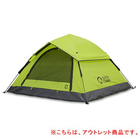 【訳あり】クイックキャンプ QUICKCAMP ワンタッチテント 3人用 グリーン QC-OT210-T
