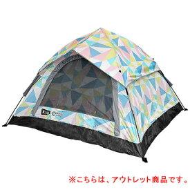 【訳あり】クイックキャンプ QUICKCAMP ×KiU ワンタッチテント 3人用 アングル柄 QC-OT210KiU-T