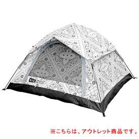 【訳あり】クイックキャンプ QUICKCAMP ×KiU ワンタッチテント 3人用 バンダナ柄 QC-OT210KiU-T
