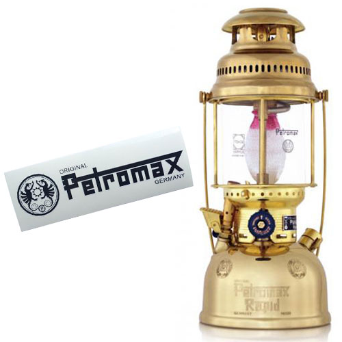 ペトロマックス Petromax ランタン HK500 ブラス & ロゴステッカーセット