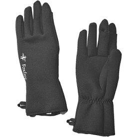 フォックスファイヤー Foxfire フィッシング メンズ クロロプレンフィンガースルーグラブ Chloroprene Finger-through Gloves ブラック 5020806 025