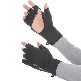 フォックスファイヤー Foxfire フィッシング メンズ クロロプレンフィンガーレスグラブ Chloroprene Finger-less Gloves ブラック 5020807 025