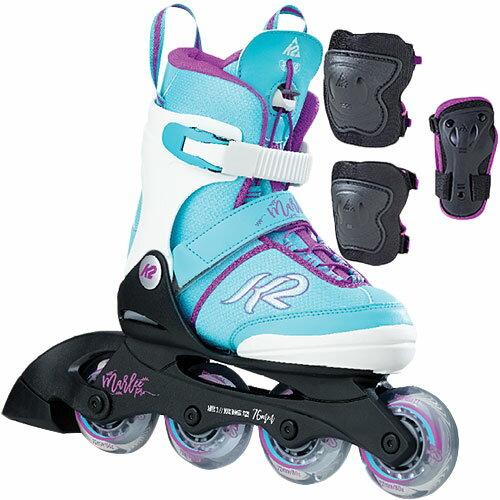 ケーツー K2 ジュニア インラインスケート MARLEE PRO PACK マーリー プロパック プロテクター3点セット付き I170200601 キッズ