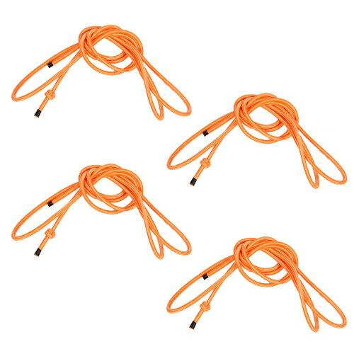 リーディングエッジ フィットネス トランポリン LE-FDT40用 スペアゴム 4本セット オレンジ