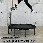 リーディングエッジLEADINGEDGEフィットネストランポリンカバーハンドル付きブラックLE-FDT40n