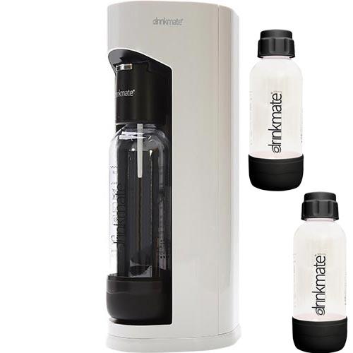 ドリンクメイト drinkmate 新生活応援セット マグナムグランド ホワイト ブラックボトル Sサイズ 2本付き DRM5007
