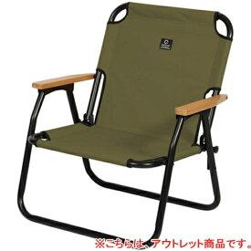 【訳あり】クイックキャンプ QUICKCAMP 一人掛け ローチェア カーキ QC-ASC60
