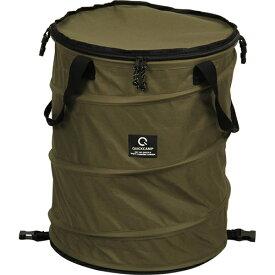 クイックキャンプ QUICKCAMP アウトドア キャンプ トラッシュボックス カーキ ポップアップ ゴミ箱 45L コンパクト 薪入れ QC-TB40 ランドリーバスケット ケース ストーブ