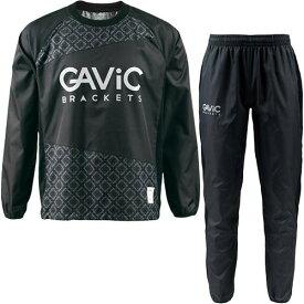 ガビック GAVIC サッカー ウェア 上下セット ジュニア ピステスーツ クロスステッチ BLK/BLK GA1533 キッズ
