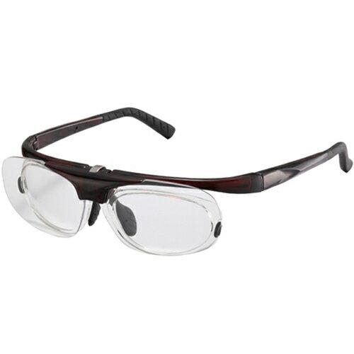 アックス AXE アイキュアー 中近距離対応メガネ 拡大鏡/ルーペ BR/クリアブラウン RG-700
