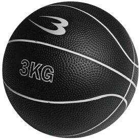【6/4(木)20:00~エントリーでポイント+9倍 確定】ボディメーカー BODYMAKER メディシンボール 3kg ブラック MBG23