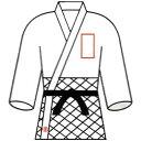 九櫻 クサクラ 柔道衣胸ネーム刺繍 2文字 NM2