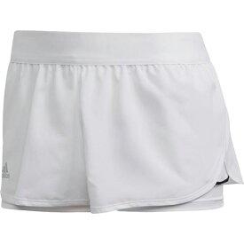 アディダス adidas レディース テニスウェア クラブショーツ CLUB SHORTS ホワイト/マットシルバー/ブラック FRO16 FK6998