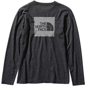 ノースフェイス THE NORTH FACE レディース ロングスリーブスクエアロゴジャカードティー L/S Square Logo Jacquard Tee ブラック NTW61907 K