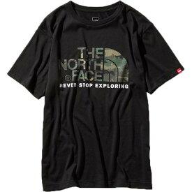 ノースフェイス THE NORTH FACE メンズ ショートスリーブカモフラージュロゴティー S/S Camouflage Logo Tee ブラック NT31932 K
