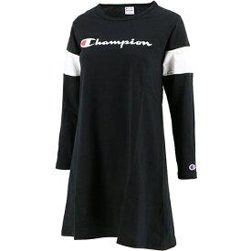 チャンピオン Champion ジュニア ロングスリーブ ワンピース L/S ONE PIECE ブラック CS6445 08