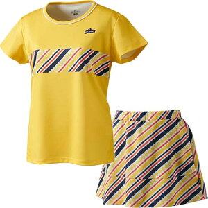 プリンス Prince レディース テニスウェア ゲームシャツ & スカート 上下セット レモンイエロー/ネイビー×イエロー WS0023 074/WS0319 352