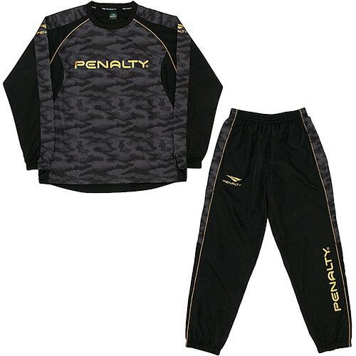 【送料無料】ペナルティ(PENALTY) ピステスーツ ブラック WNS PO7517 30 【サッカー フットサル トレーニングウェア ウインドブレーカー 上下セット】