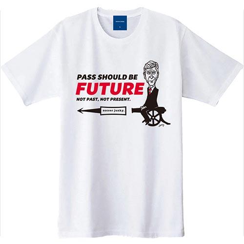 ジャンキー Junky サッカージャンキー×JERRY PASS SHOULD BE FUTURE 半袖T ホワイト SJ18105 メンズ レディース